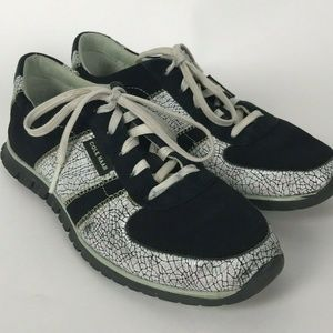 Cole Haan Zerogrand Shoes Black White Crackle